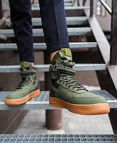 "Кроссовки Nike Air Force 1 High Special Field SF 1 ""Green"" (Зеленые), фото 3"