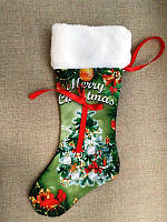 ЧХ-6. Пошитий новорічний чобіток з хутром, під вишивку