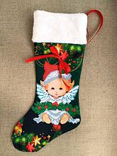 ЧХ-5. Пошитий новорічний чобіток з хутром, під вишивку