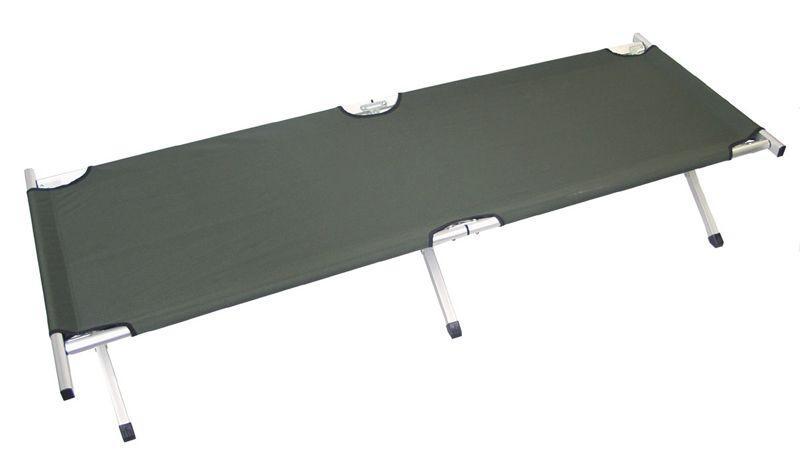 Розкладушка туристична алюмінієва 200 х 65см MFH Olive 31951