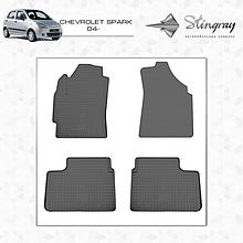Резиновые коврики (4 шт, Stingray Premium) - Chevrolet Spark 2004-2009 гг.
