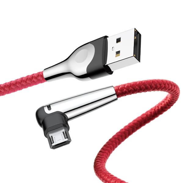 Baseus 2.4A Двунаправленный реверсивный микро-USB с Светодиодный Быстродействующий кабель для передачи данных 1M - 1TopShop