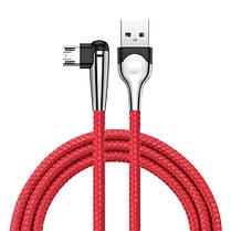 Baseus 2.4A Двунаправленный реверсивный микро-USB с Светодиодный Быстродействующий кабель для передачи данных 1M - 1TopShop, фото 3