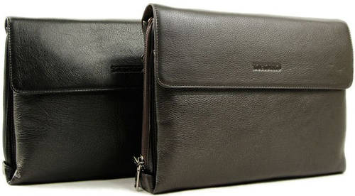 Элегантная мужская сумка на плечо кожаная Tofionno 01522-2 черная