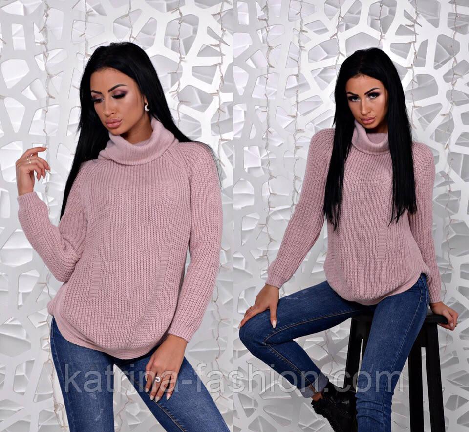 Женский стильный вязаный свитер (6 цветов)
