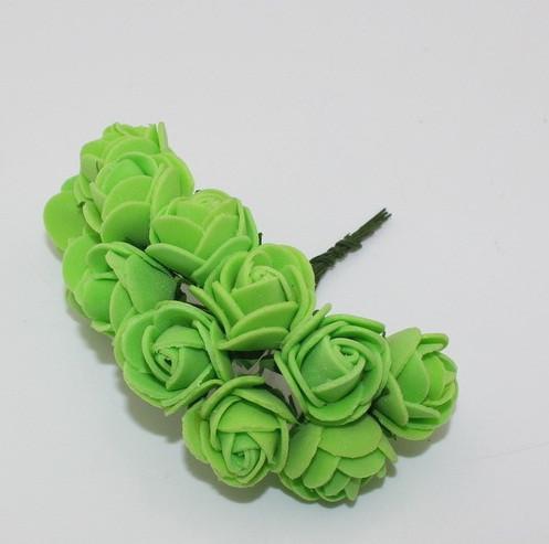 Букет роз из фоамирана. Цвет зеленый