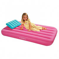 Матраc надувной детский Intex 66801NP (48771) (88х157х18см) с подушкой. 3 цвета.