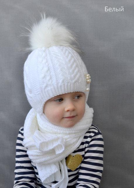 Зимняя шапка для девочки от 2 лет, фото 1