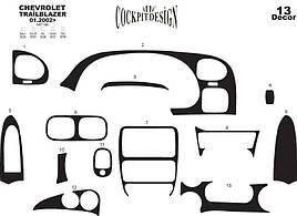 Накладки на торпеду - Chevrolet Trailblazer 2002+ гг.
