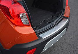 Накладка на задний бампер OmsaLine (нерж) - Chevrolet Trax 2012+ гг.