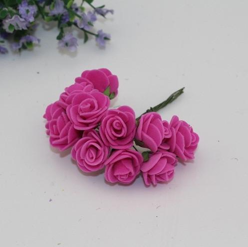 Букет роз из фоамирана. Цвет темно-сливовый