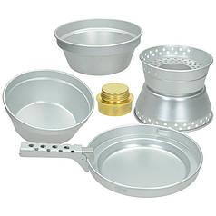Набор посуды из алюминия с горелкой MFH Premium 33351