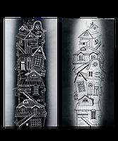 """Металокерамічний дизайн-обігрівач UDEN-S """"Містечко"""" (диптих)"""