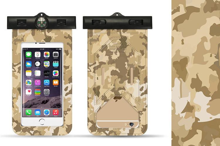 Чехол водонепроницаемый с компасом Camouflage desert