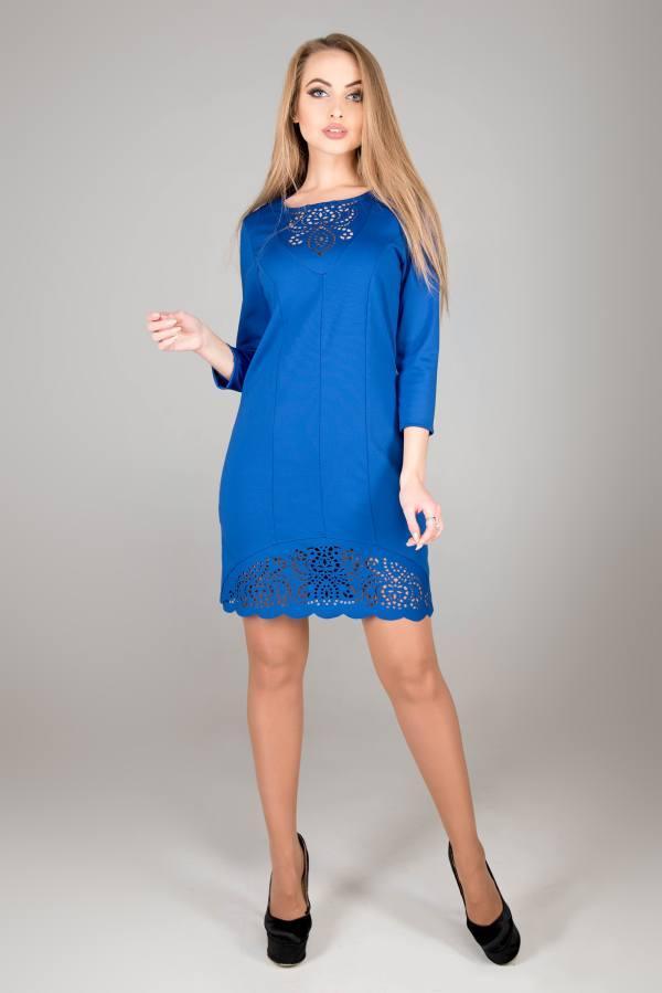 Молодежное платье Форина электрик(44-52)