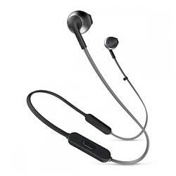 Навушники вкладиші безпровідні з мікрофоном JBL T205BT Black