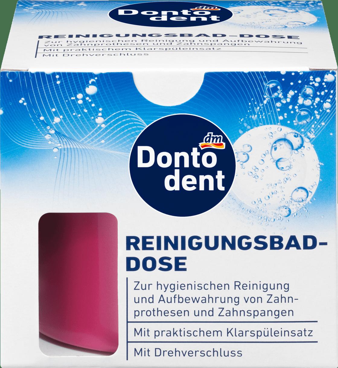 Контейнер для зубных протезов Dontodent Reinigungsbad-Dose, 1 шт.