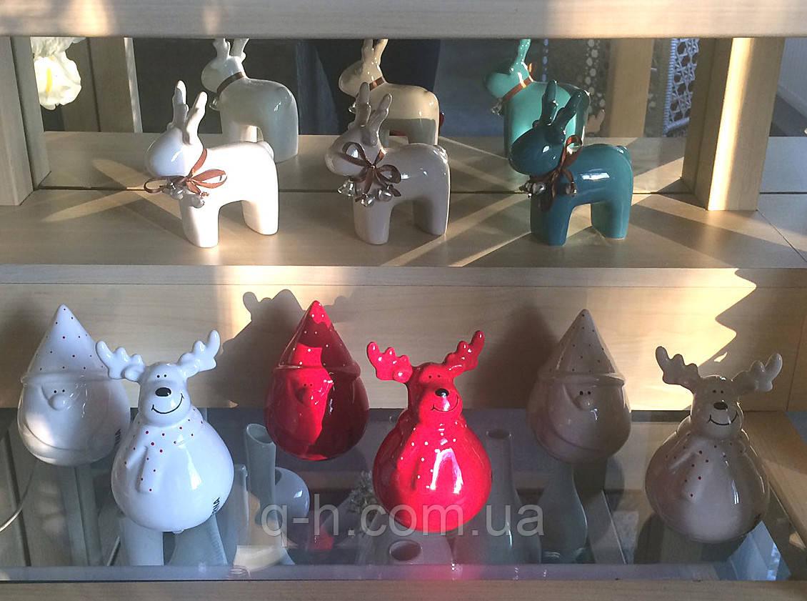 Стаэтка олень из керамики 12*5,5*14 см (1408-14)