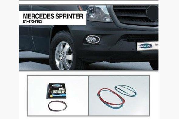 Накладки на противотуманки 2013+ (2 шт, нерж.) - Mercedes Sprinter 2006-2018 гг.