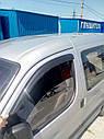 Ветровики DDU-Aomis (2 шт, черные) - Citroen Berlingo 1996-2008 гг., фото 2