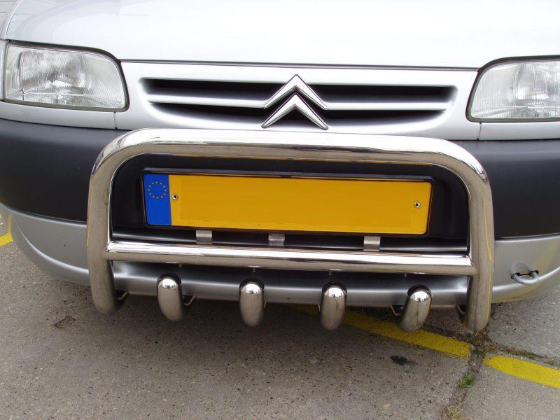 Кенгурятник QT006 (нерж.) - Citroen Berlingo 1996-2008 гг.
