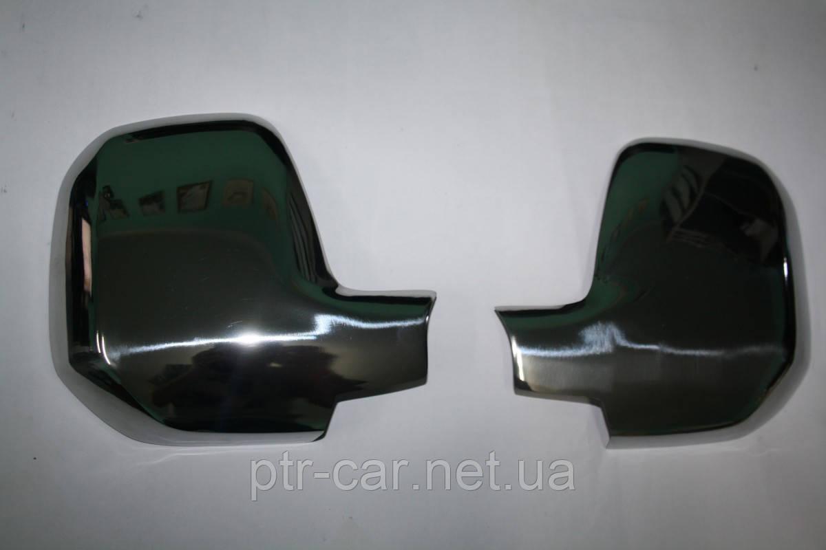Накладки на зеркала (2 шт., нерж.) - Citroen Berlingo 2008-2018 гг.