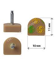 Набойки полиуретановые SUPERTOP, штырь 2.5 мм, р. 10*11 мм, цв. бежевый