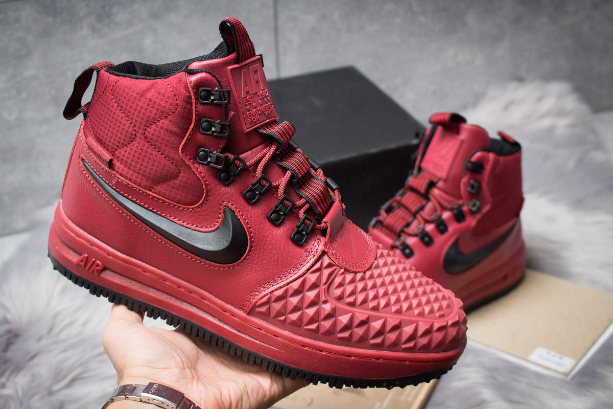 Зимние ботинки Nike LF1 Duckboot 126-4 бордовые, мужские на меху