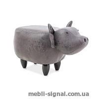 Детский пуфик Свинка Sabinka серый (Signal)