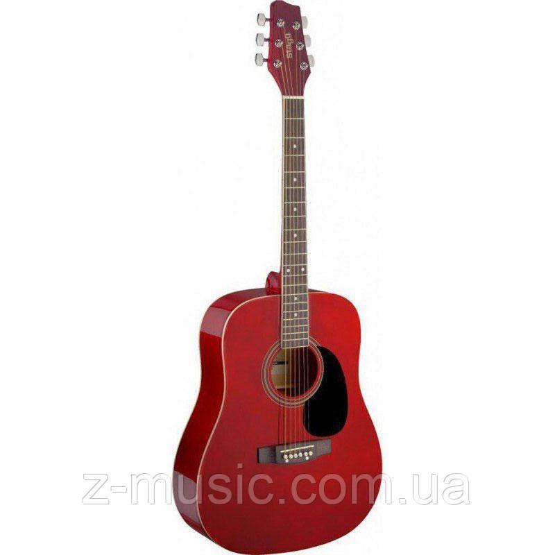Акустическая гитара STAGG SA20D RD (отстроенная мастером) + 2 медиатора