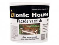 Лак для дерева водный, для наружных работ, профессиональный(Bionic House Facade varnish Joncryl) 10 л