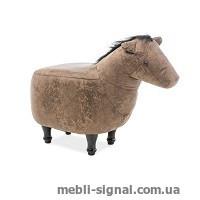 Детский пуфик Лошадка Konrad коричневый (Signal)
