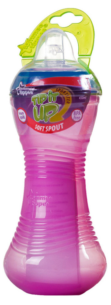 Поилка Tommee Tippee Tip it UP от 12-ти мес.(450ml)  голубой, розовый и салатовый