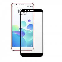 Защитное стекло на телефон Meizu M8c 3D black