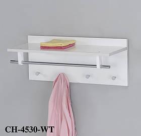 Настенные крючки для одежды с полочкойCH-4530-WT