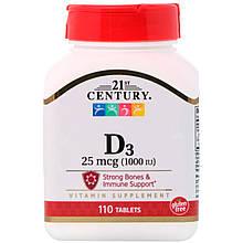 Вітамін D3 21st Century High Potency 1000 IU 110 tabs