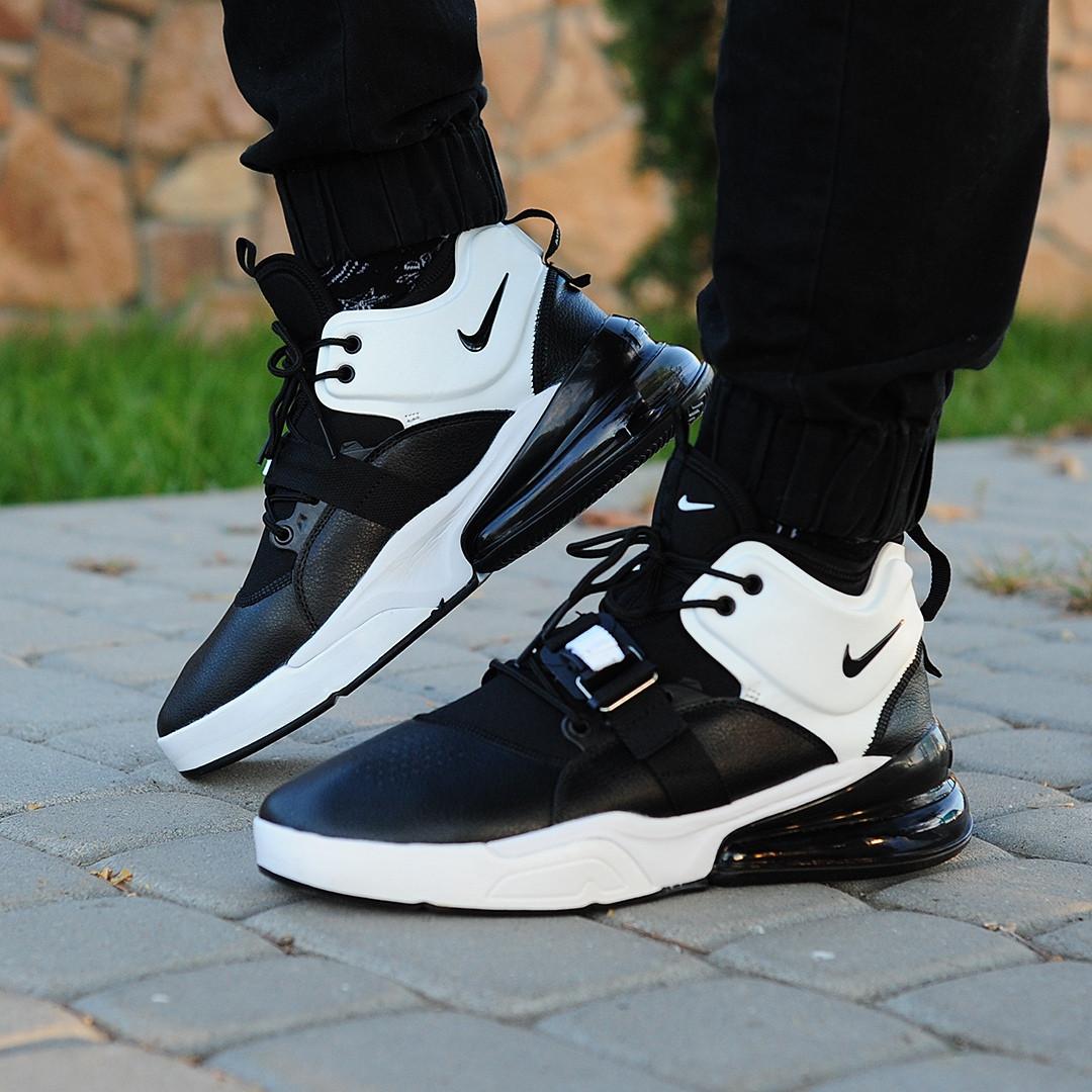 80def67d Мужские кроссовки Nike Air Force 270 Black/White топ реплика -  Интернет-магазин обуви