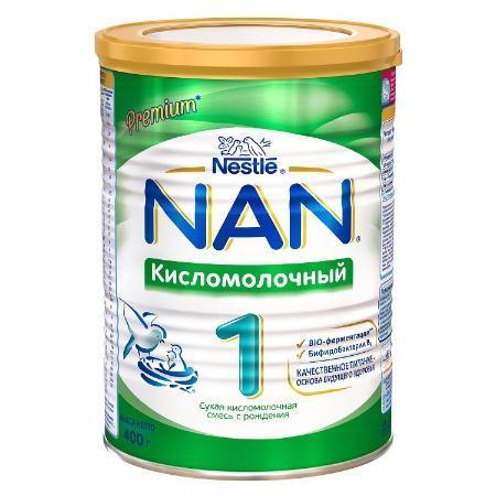 Сухая детская молочная смесь NAN (Нан) 1 Кисломолочный 400гр