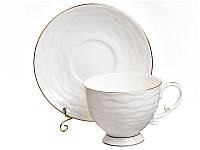 """Фарфоровый чайный набор на 6 персон """"Волна"""" 264-127"""