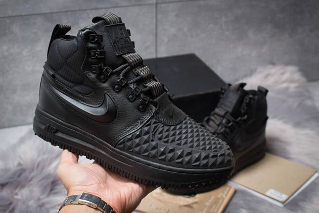 Зимние ботинки Nike LF1 Duckboot черные, 126-1 женские на меху, фото 2