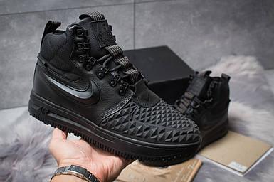 Зимние ботинки Nike LF1 Duckboot черные, 126-1 женские на меху