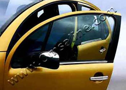 Наружняя окантовка стекол (нерж.) - Citroen C-3 2002-2010 гг.