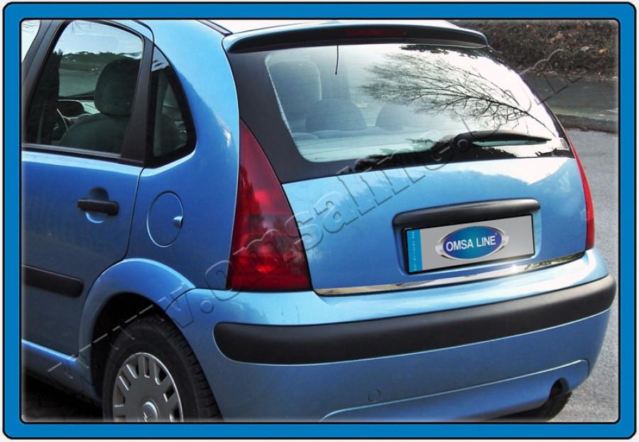 Накладка нижней кромки багажника (нерж) - Citroen C-3 2002-2010 гг.