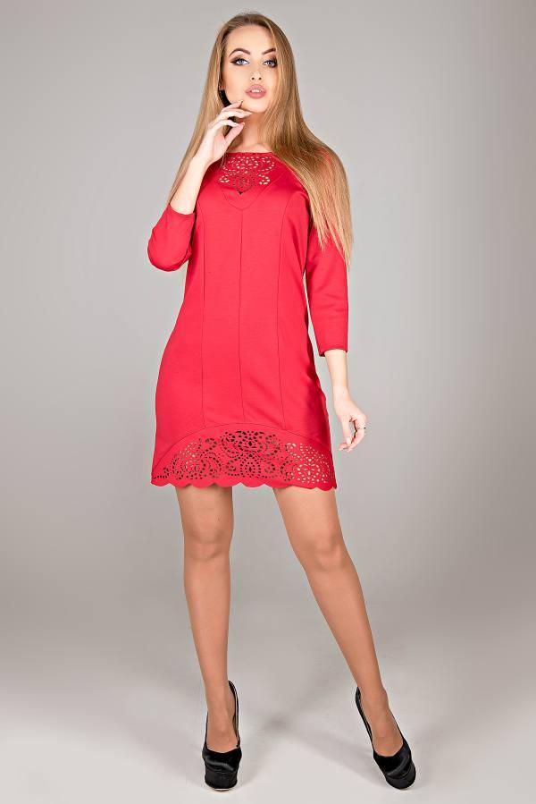 Молодежное платье Форина красный(44-52)