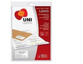 """Этикетки самоклеящиеся 1шт на листе(210х297) """"Uni Labels"""""""