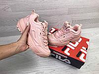 Подростковые зимние кроссовки Fila 6800 розовые, фото 1