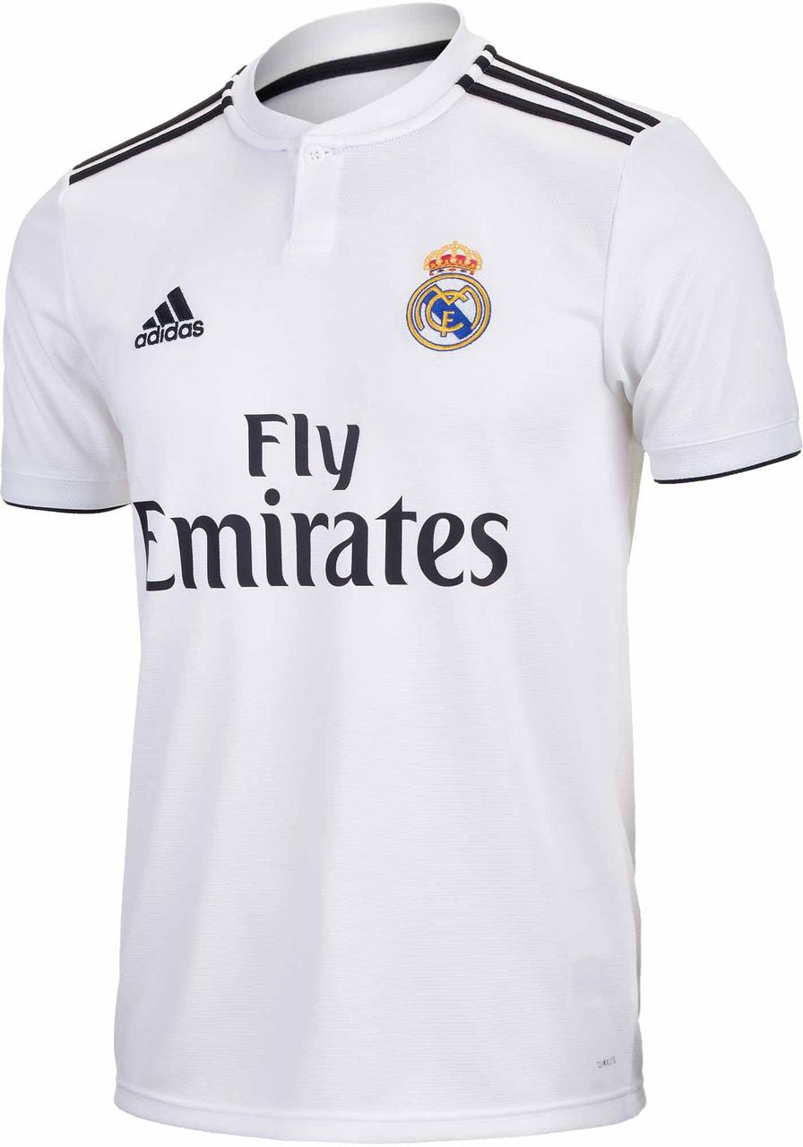 Футбольная форма Реал Мадрид (Real Madrid) 2018-2019 Домашняя белая ... b3fe82bddb1