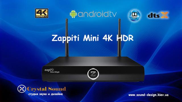 Zappiti Mini 4K HDR приставка Android ТВ медиаплеер 4K UltraHD