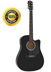 Электроакустическая гитара Fender Squier SA-105CE + кабель 3м