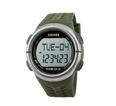 Часы водонепроницаемые спортивные с пульсометром и шагомером Skmei Black BOX 1111GB
